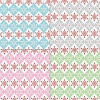 sömlösa pastell snöflinga mönster