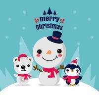 Frohe Weihnachten Grußkarte vektor