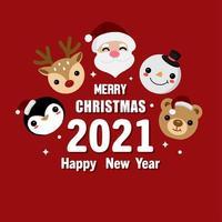 god jul och gott nytt år gratulationskort vektor