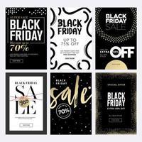 svart fredag försäljning banner set