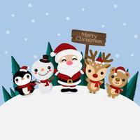 Frohe Weihnachten Grußkarte mit Weihnachtsmann