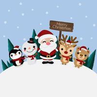 god jul gratulationskort med jultomten
