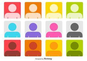 Färgglada Headshot Vector ikoner