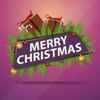 Frohe Weihnachten, Grußaufkleber vektor