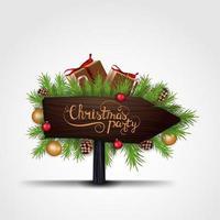 Weihnachtsfeier, Holzzeiger vektor