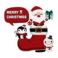Weihnachtsmann in einem großen Stiefel
