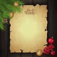 Weihnachts leere Grußschablone vektor