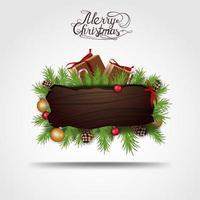 Weihnachtsleerholzzeiger vektor