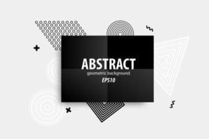 abstrakta geometriska former design i svart, vitt, grått vektor