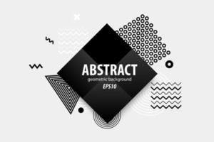 abstrakta geometriska former design i svart, vitt, grått