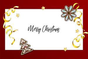 jul pepparkakor och konfetti semester banner
