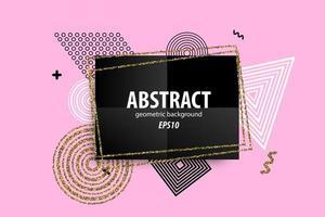 abstrakta geometriska former design på rosa