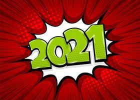 2021 Pop-Art-Comic-Text-Sprechblase