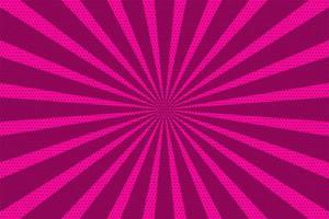 rosa popkonst vintage radiell halvton bakgrund vektor