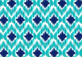 nahtloses blaues Ikat-Muster