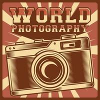 klassisches Vintage-Fotografieplakat vektor