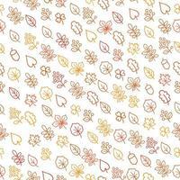 Herbstblätter umreißen nahtloses Muster vektor
