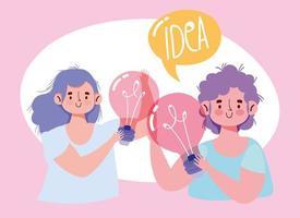 kreativa människor som har idéer