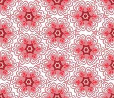 rote florale orientalische nahtlose Verzierung vektor