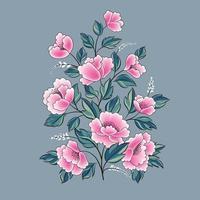 rosa blommig bukettdesign