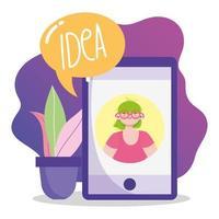 kreativitet och teknologikonceptkomposition vektor