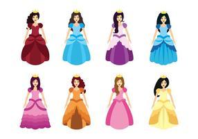 Princesa karaktär vektor set