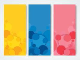 abstrakt gul, blå och röd bakgrund vektor