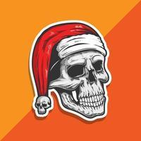 Weihnachtsmann Schädel vektor