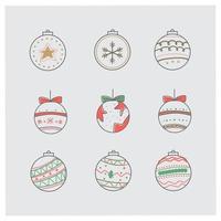 handritad jul bollar samling
