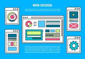 Free Web Layout Vector Bakgrund
