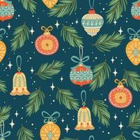 jul och gott nytt år mönster vektor