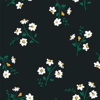 abstrakt mönster med blommor vektor