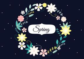 Freie Blumenkranz Vektor-Hintergrund vektor