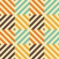 Vintage nahtloses Muster mit Raute und diagonalen Linien