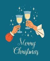 Frohe Weihnachten und frohe Neujahrsgrußkarte