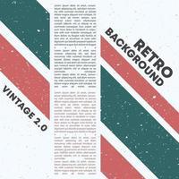 Retro Design Hintergrund mit Vintage Grunge Textur vektor