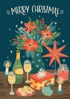 Weihnachten und frohes neues Jahr Szene