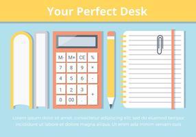 Kostenloses Büro-Schreibtisch-Vektor-Elemente