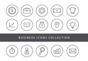 Business-Thin Line Icons vektor