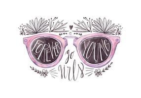 Freie Sonnenbrille Zitat vektor