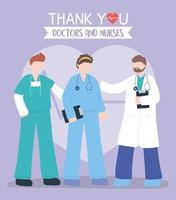 Gruß- und Dankbarkeitskomposition für Beschäftigte im Gesundheitswesen vektor