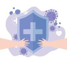 medizinischer Schutzschild während des Ausbruchs des Coronavirus
