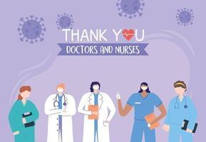 hälsnings- och tacksamhetssammansättning för vårdpersonal vektor