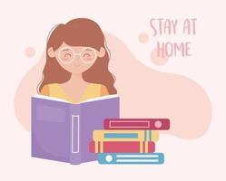 junge Frau, die zu Hause studiert