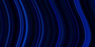 dunkelblauer Hintergrund mit gebogenen Linien.