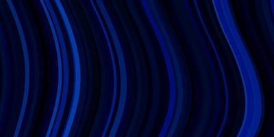 mörkblå bakgrund med böjda linjer.