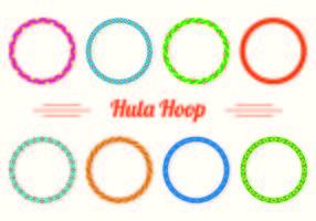 Inställda Hula Hoop ikoner vektor