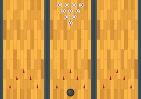 Gratis Bowling Lane Vektor Hintergrund