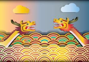 Dragon Boat Racing Illustration