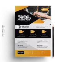 gelbes und schwarzes Geschäftsgeschäftsflieger-Layoutdesign vektor